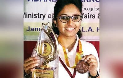 Ms. Janhavi Sunil More one of the top National Carrom Player  lost her life in a road accident.